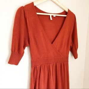 Frenchi  Rustic Orange Tunic Dress
